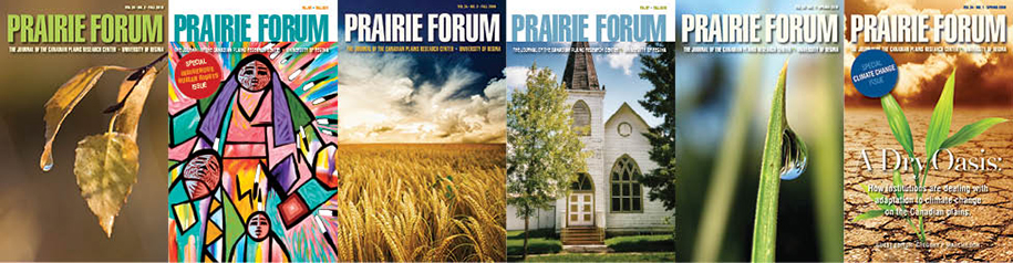 image of various Prairie Forum print edition covers